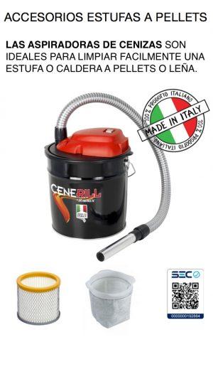 F) Accesorios para estufas a Pellets / Aspiradoras de cenizas