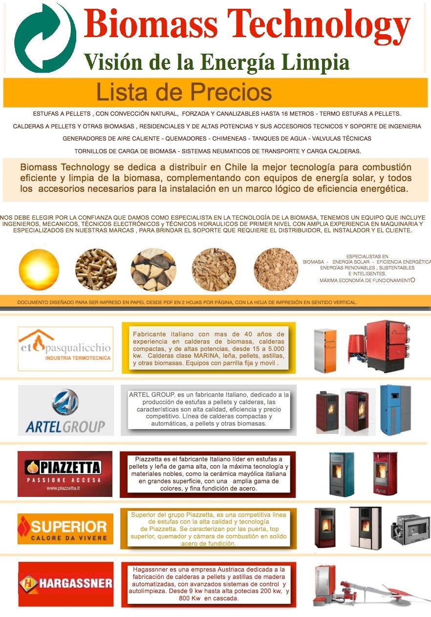 Lista De Precios Y Catalogo Biomass Technology Biomass