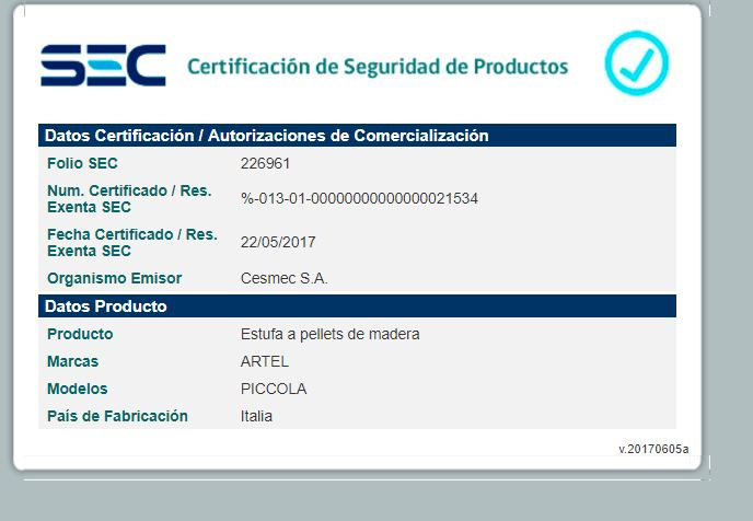 certificado sello sec piccola